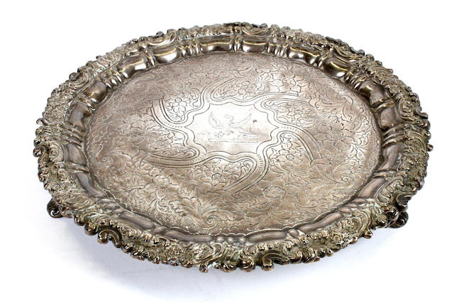 A George IV silver salver By S C Younge & Co., Sheffield, 1820,