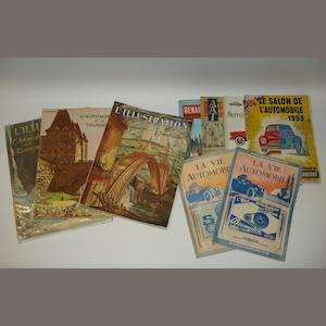 A collection of French magazines