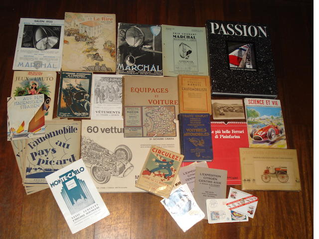Assorted books and ephemera