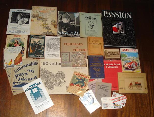 Assorted books and ephemera
