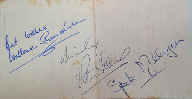 Autographs of The Goons,