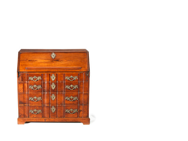 A late 18th century Dutch East Indies padouk bureau