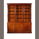 A late George III mahogany bookcase