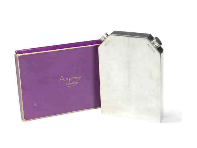 A milk and water flask, by Asprey,