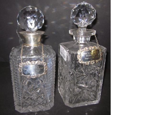 Ian Callaghan/Tommy Smith cut glass decanters