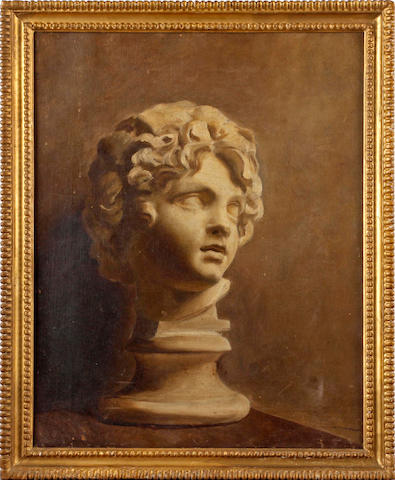 Attributed to Sir Alfred James Munnings P.R.A., R.W.S. (British, 1878-1959) Cast of a boy's head