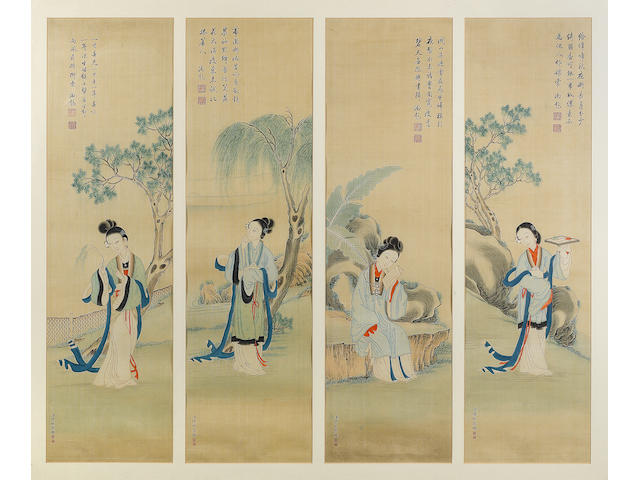 eight Chinese panels-For advice with Asian department