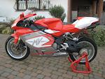 880 kilometres from new,2006 MV Agusta F4 1000S Corse Frame no. ZCGF511BA6V003824