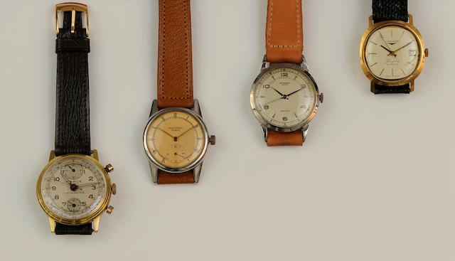 A collection of four wristwatches