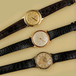 A collection of three wristwatches by Movado