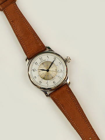 Longines: A stainless steel automatic (Weems Navigation) wristwatch Special Edition No.0683