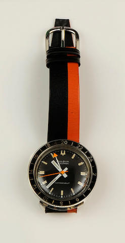 Bulova: A stainless steel dual time zone electronic wristwatchAccutron - Astronaut, Case No.1-549104 M8, Circa 1966