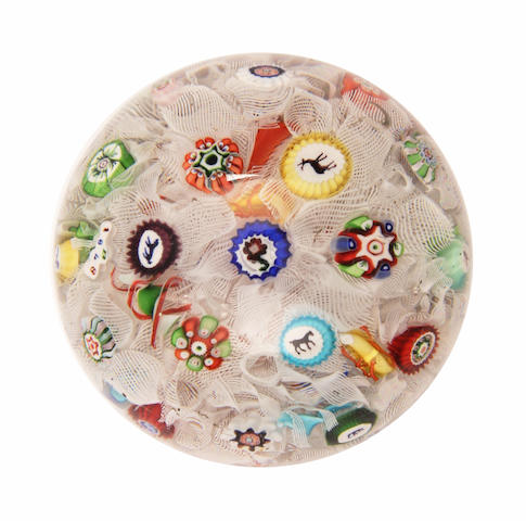 A Baccarat spaced-millefiori paperweight, dated 1848