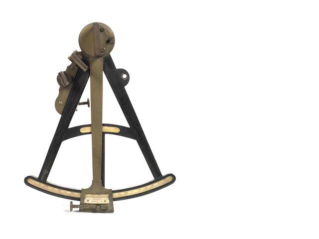 A 10in.(25cm)radius ebony and ivory Octant,