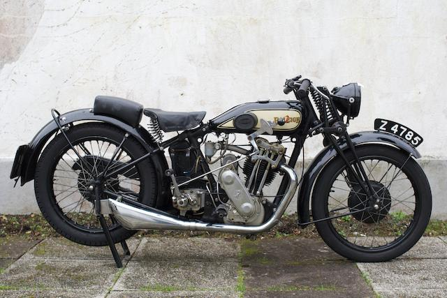 c.1932 Raleigh 496cc Model 21 Frame no. A11892 Engine no. DFRO 3/RAL 1024
