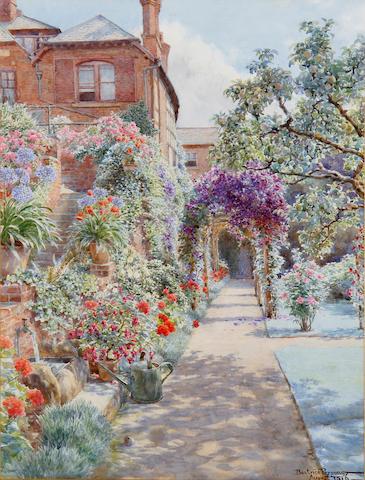 Beatrice Parsons (British, 1870-1955) Garden at Bridge Street, Hereford