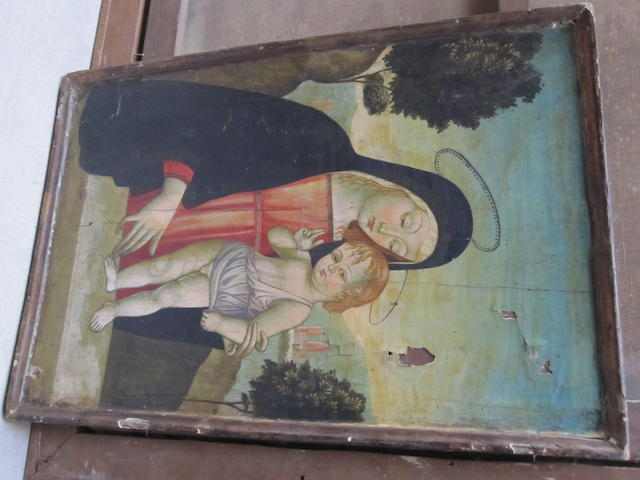 MANNER OF THE PSEUDO PP FIORENTINO MADONNA AND CHILD PANEL