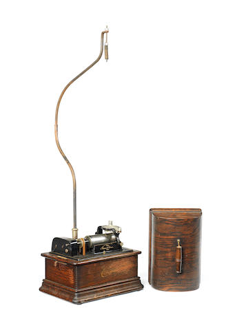 An Edison Standard phonograph, type D combination model,