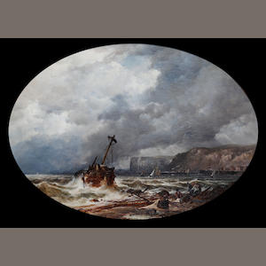 John Syer, RI (British, 1815-1885) The shipwreck