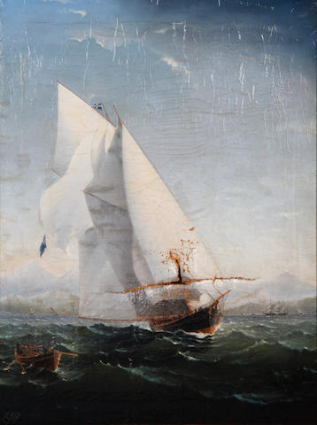 Captain Charles Keith Miller (British, fl 1874-1903) Sailing ship