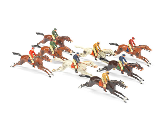 Heyde 70mm scale Race Horses with Jockeys 8 8