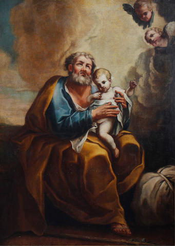 Neapolitan School, 18th Century Saint Joseph with the Christ Child