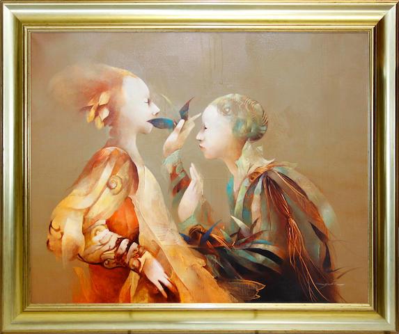 Anne Bachelier (French, born 1949) Quelque Parole Secrete...?