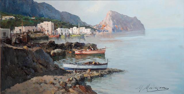 Mario Maresca (Italian, 1877-1959) An Italian coastal village