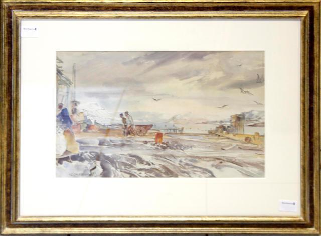 Thomas Hennell (British, 1903-1945) Beach scene