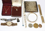 A mixed lot of jewellery and silver