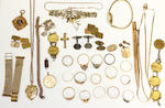 A mixed lot of jewellery and silver,