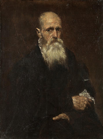 Attributed to El Greco (Candia 1541-1614 Toledo) Portrait of a bearded gentleman, three-quarter length unframed