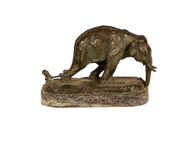 E. M . Alexander 1926 A bronze model of a tethered elephant