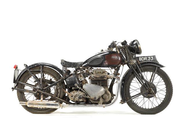 1938 Ariel 995cc Model 4G 'Square Four' & Sidecar Frame no. P1295 Engine no. DE101