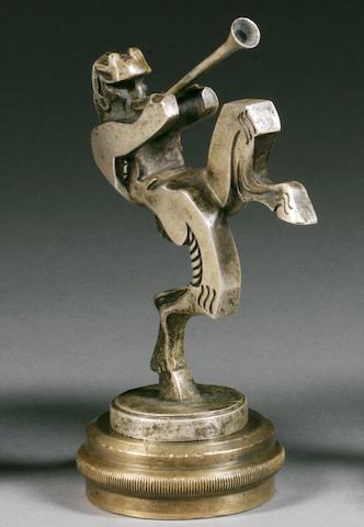 Mascotte 'Le faune messager'  signée Frederick Bazin,