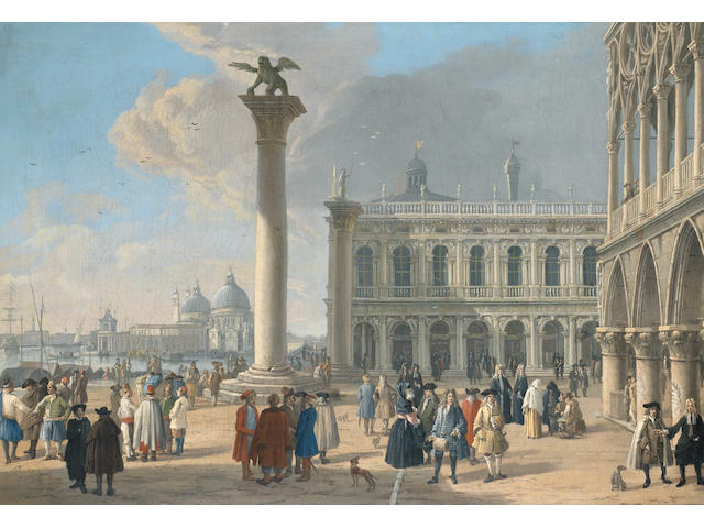 uca Carlevarijs (Udine 1663-1730 Venice) The Piazzetta, Venice, looking towards the Punta della Doga