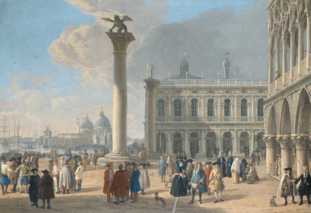 uca Carlevarijs (Udine 1663-1730 Venice) The Piazzetta, Venice, looking towards the Punta della Doga