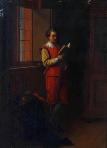 Jean de la Hoese (Belgian, 1846-1917) A quiet moment