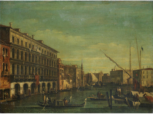 Niccolò Guardi (Venice 1715-1785) The Grand Canal from the Palazzo Foscari to the Church of the Cari
