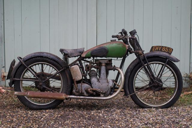 1938 BSA 249cc B22 Empire Star Frame no. JB20 3658 Engine no. JB22 737