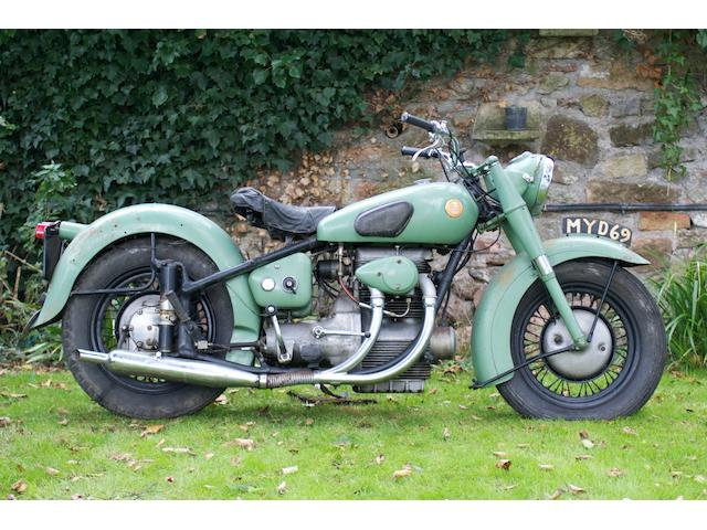 c.1951 Sunbeam 489cc S7 Frame no. S7 4278 Engine no. S8 5201