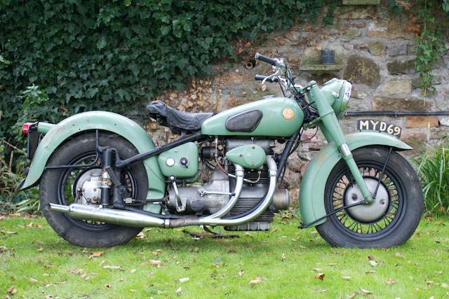 c.1951 Sunbeam 489cc S7 Frame no. S7 4278 Engine no. S8 5201