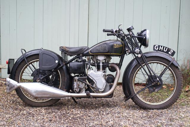 c.1935 Velocette 249cc MOV Frame no. MD9345 Engine no. M3703