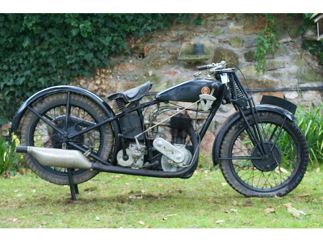 1928 Ariel 550cc Model B De Luxe Frame no. 13389 Engine no. 13340