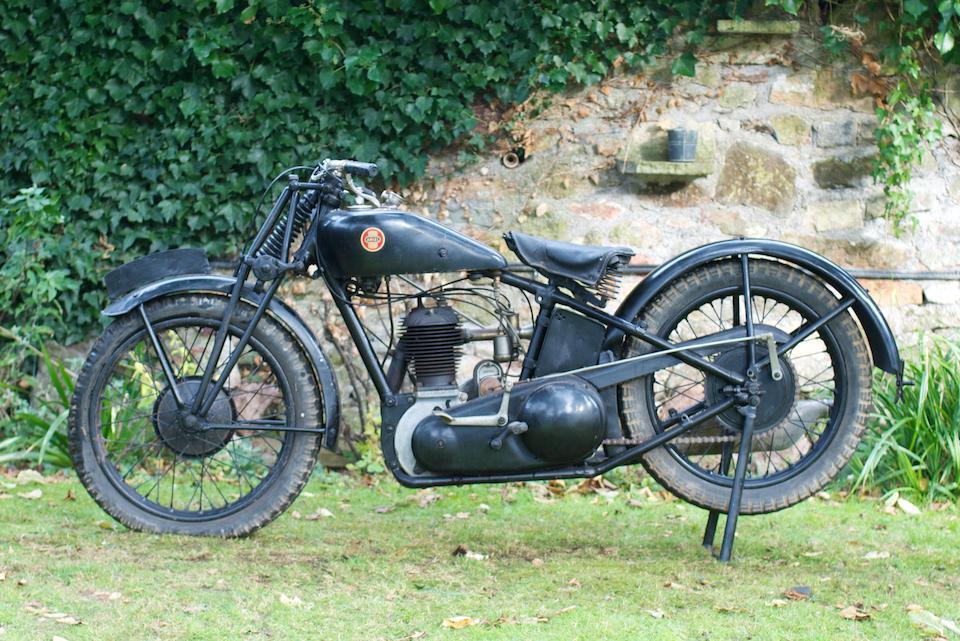 1928 Ariel 550cc Model B De Luxe Frame no. 13389 Engine no. 13340