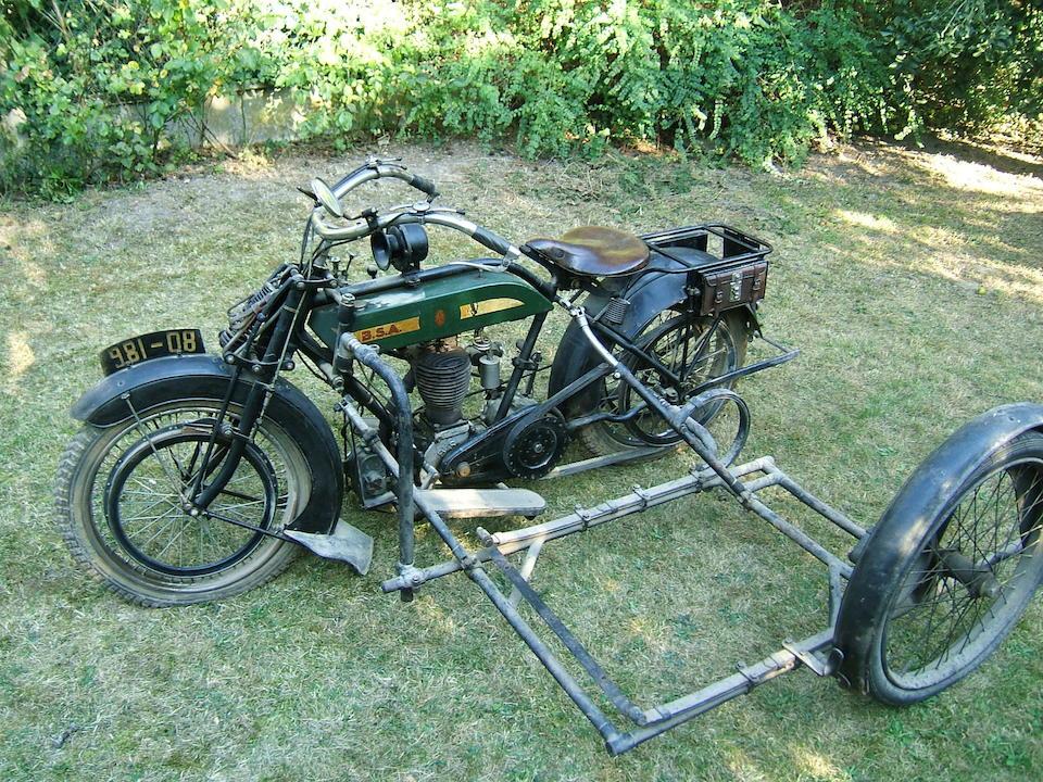 c.1917 BSA 4¼hp Motorcycle Combination Engine no. 25737/28019