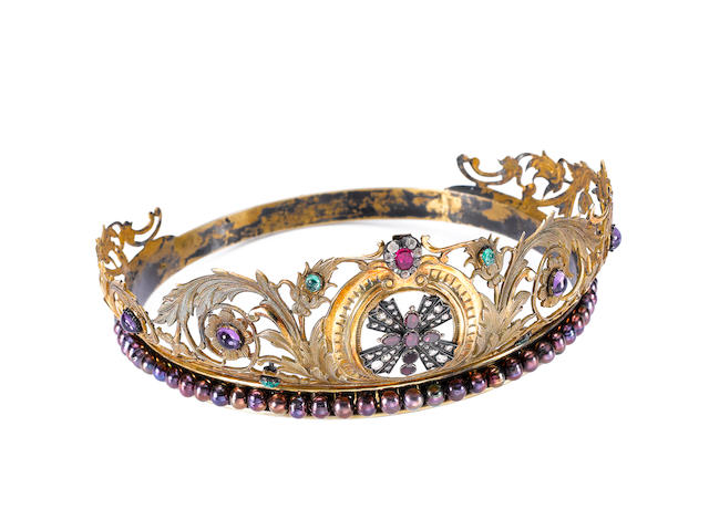A multi gem-set tiara