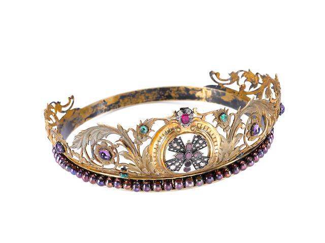 A multi gem-set tiara