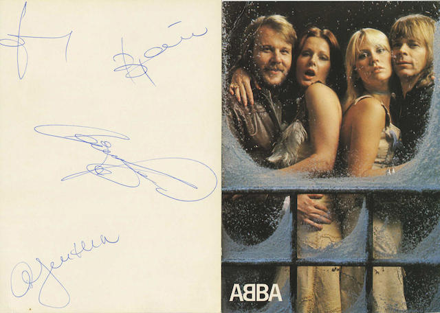 ABBA: An autographed photograph