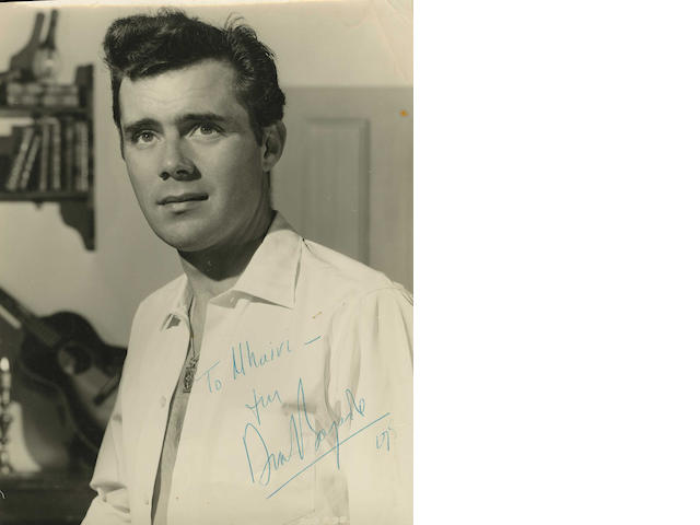 Dirk Bogarde: An autographed First Edition of 'Snakes & Ladders' and a signed photo
